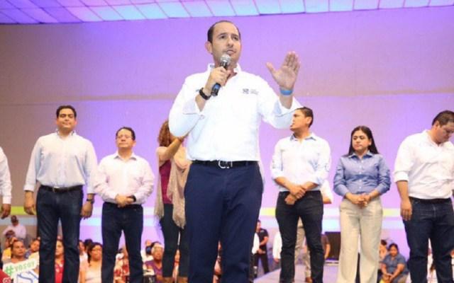 """Marko Cortés adjudica renuncias en gabinete a """"incongruencia de AMLO"""" - Marko Cortés en un evento en Tamaulipas. Foto de @MarkoCortes"""