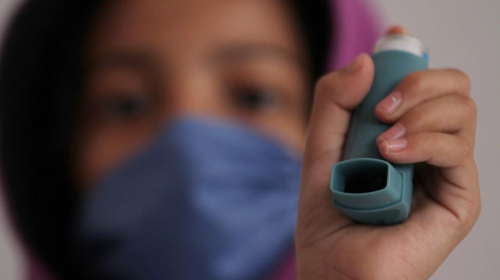 Contaminación del aire afecta salud cardiovascular y respiratoria - La contaminación del aire puede agravar el asma en quienes lo padecen. Foto de Notimex