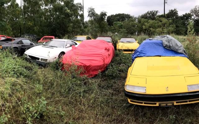 Encuentran Ferraris abandonados en campo de EE.UU. - ferraris abandonados eeuu