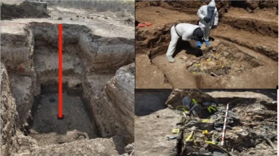 Identifican 337 cuerpos de 222 fosas clandestinas - Fosa clandestina hallada en Nayarit. Captura de pantalla