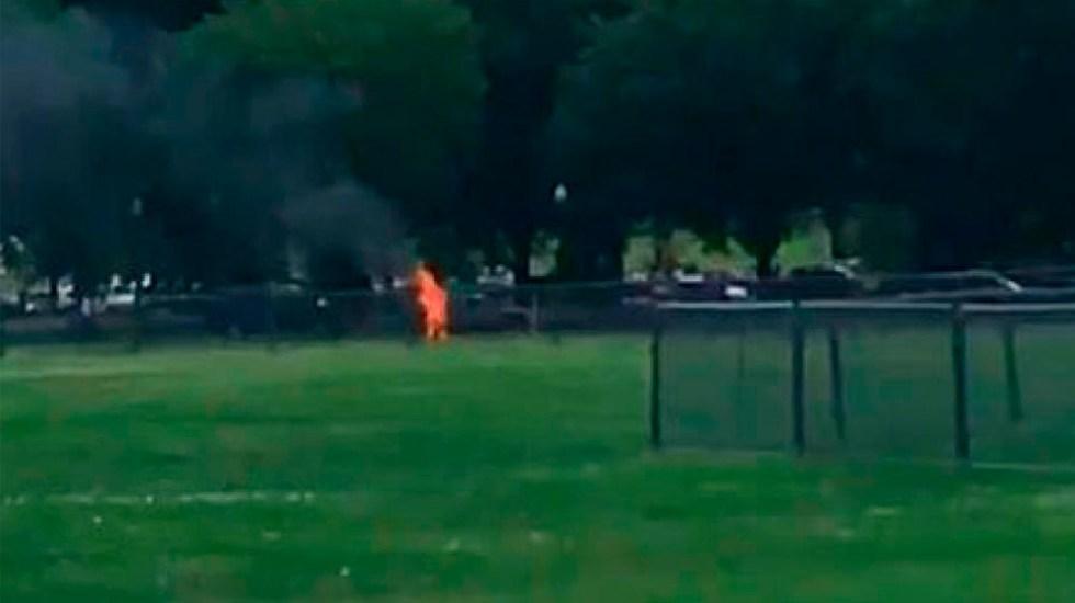 Hombre se inmola cerca de la Casa Blanca - hombre se inmola en casa blanca