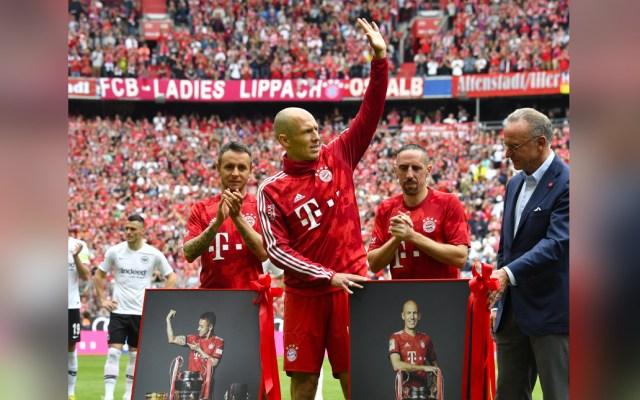 Bayern de Múnich despide con homenaje a Robben, Ribery y Rafinha - homenaje