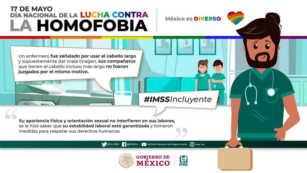 IMSS refrenda compromiso con política de atención a comunidad LGBTTTI - imss homofobia