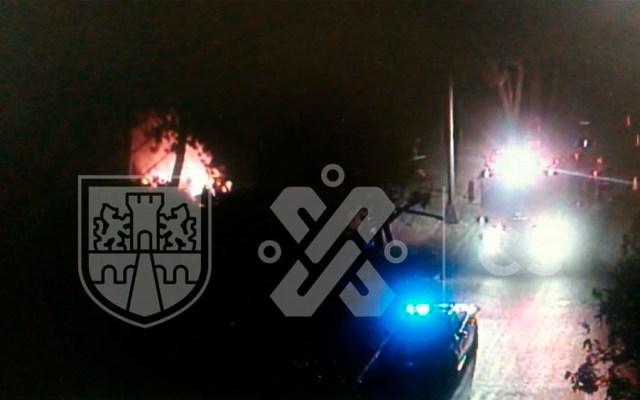 Incendio de pastizal en Xochimilco - incendio periferico xochimilco