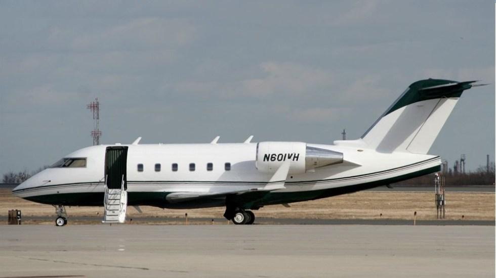 Desaparece avión en vuelo de Las Vegas a Monterrey - Jet ejecutivo bombardier Challenger 601. Foto de @flyAPM