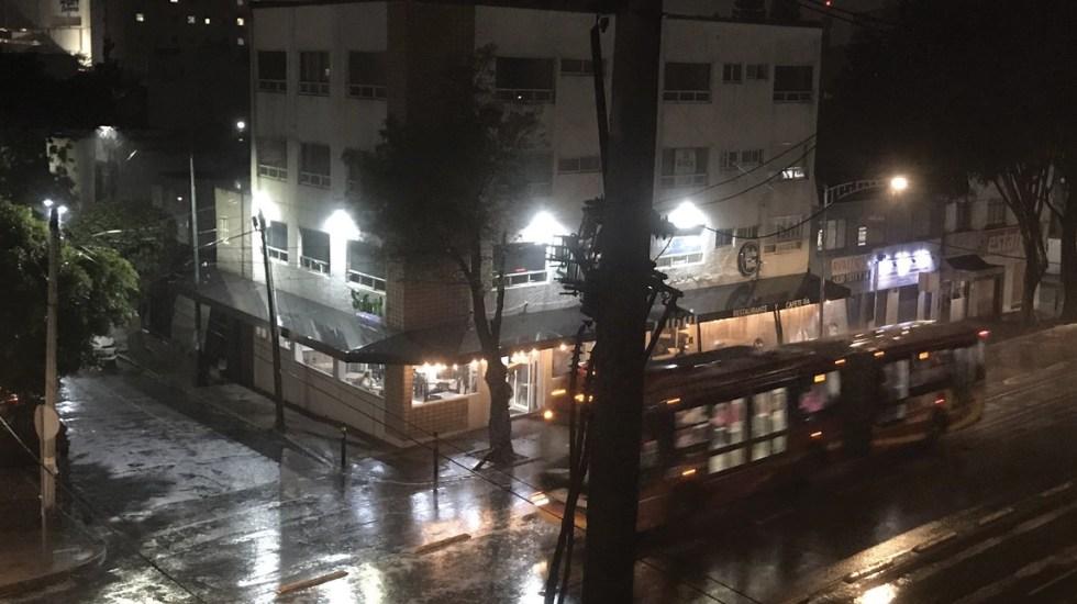 Cae fuerte lluvia en la Ciudad de México - lluvia