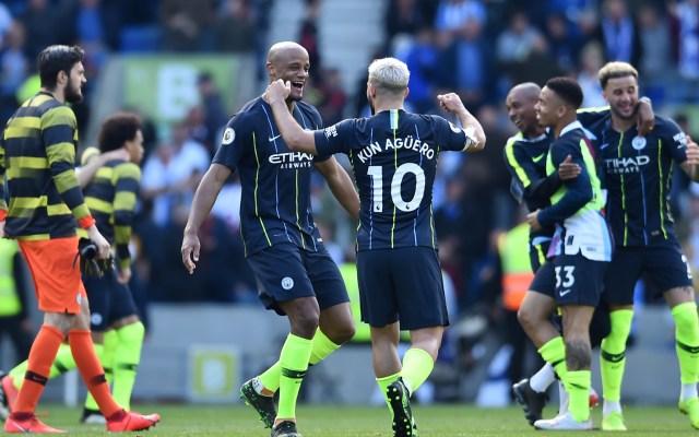 Manchester City bicampeón de la Premier League - Foto de AFP