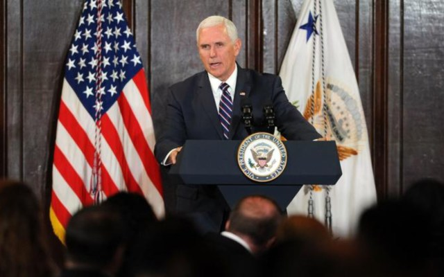 Mike Pence refrenda apoyo de Washington a Juan Guaidó - Mike Pence respalda a Guaidó