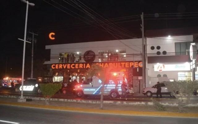 Detienen a tres por balacera en cervecería de Playa del Carmen - Foto de Foto de @JorgeCastro_Dig