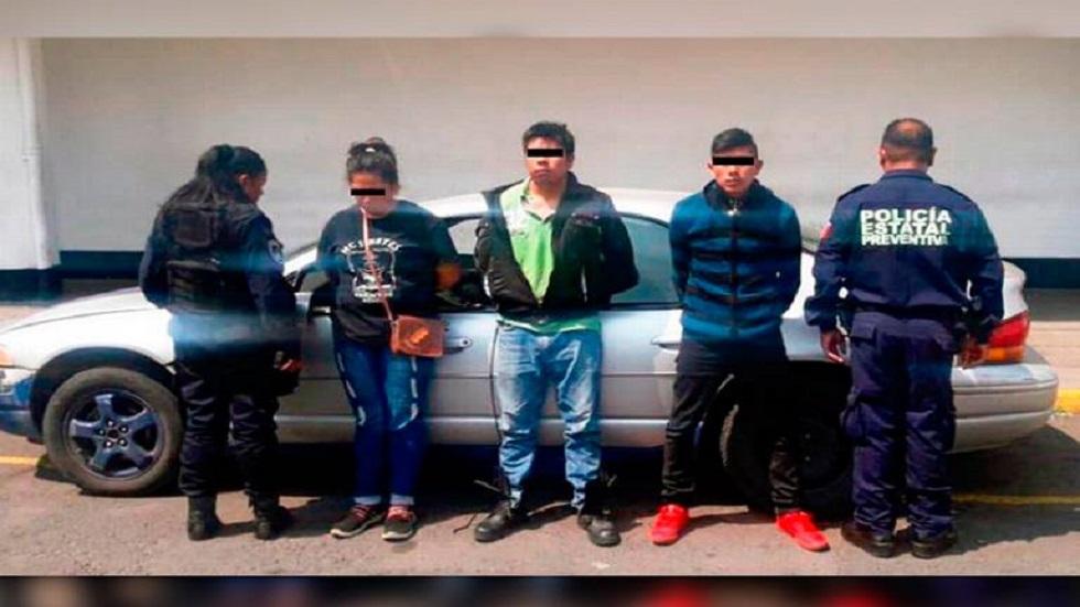 Presuntos secuestradores y prima, autora intelectual del secuestro. Foto de El Sol de Puebla