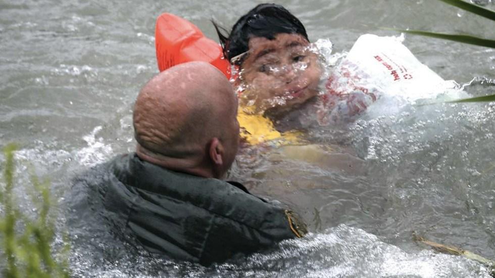 Patrulla Fronteriza rescata a niño hondureño en el Río Bravo - rescate de niño honduras