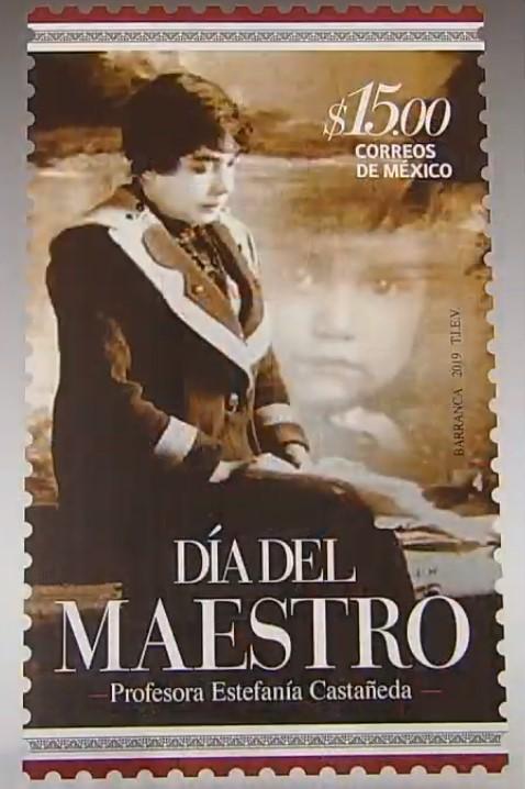 Timbre postal con motivo del Día del Maestro. Captura de pantalla