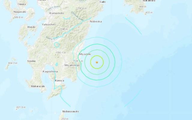 Sismo magnitud 6.1 sacude el suroeste de Japón - Captura de pantalla/USGS