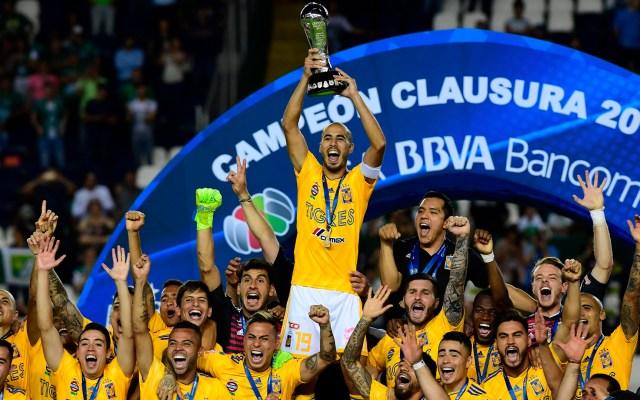 Tigres es campeón de la Liga MX - Tigres de la UANL, campeón del Clausura 2019. Foto de Mexsport.
