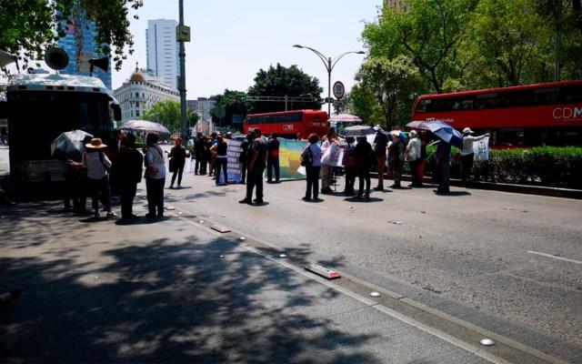 Sindicalizados del IMSS bloquean Paseo de la Reforma - trabajadores imss reforma