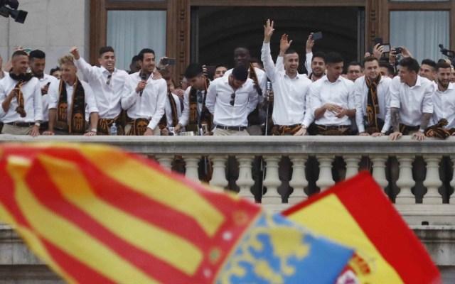 Valencia celebra título de la Copa del Rey en la Plaza del Ayuntamiento - Foto de Valencia CF
