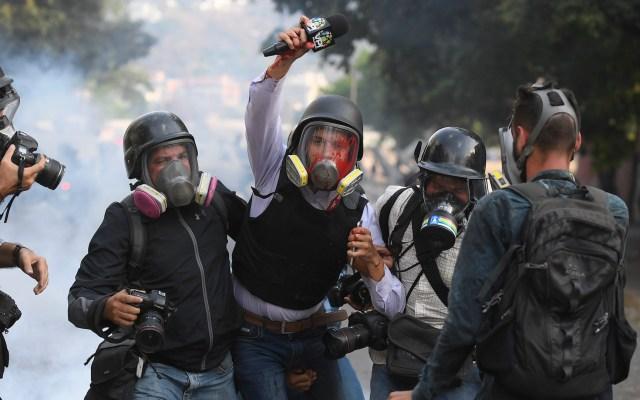 México reitera principios constitucionales de política exterior ante crisis en Venezuela - La situación en Venezuela. Foto de Federico Parra / AFP.