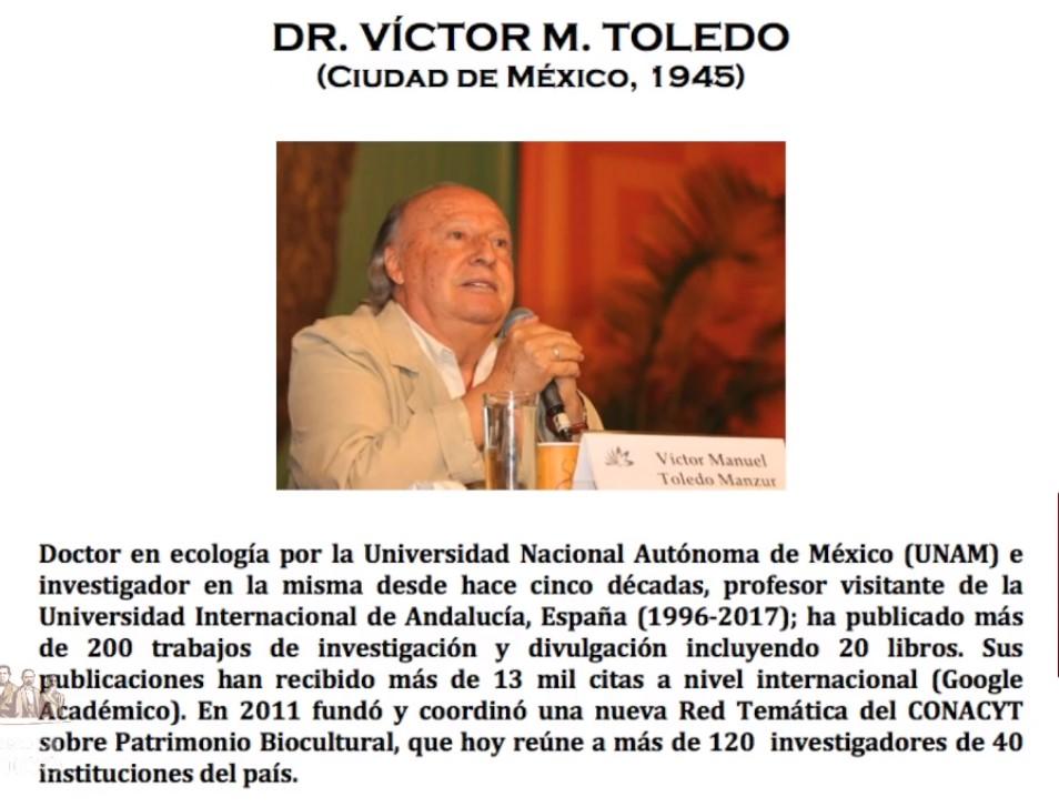 Semblanza de Víctor Manuel Toledo. Captura de pantalla