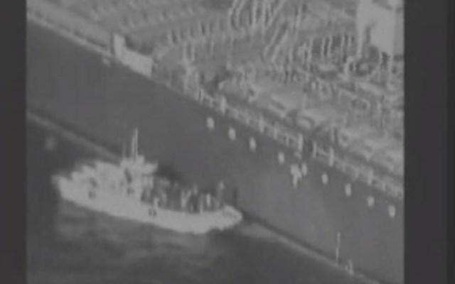 #Video EE.UU. culpa a Irán de ataque a buques en el Golfo de Omán - Ataque a buques en el Golfo de Omán. Captura de pantalla