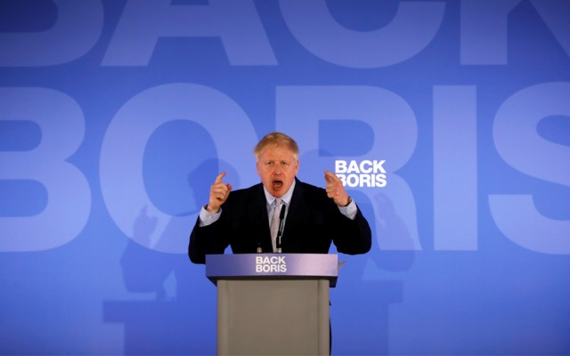 Boris Johnson aventaja para suceder a Theresa May - Foto de AFP