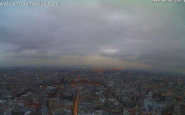 Valle de México amanece con buena calidad del aire - Foto de webcamsdemexico.com