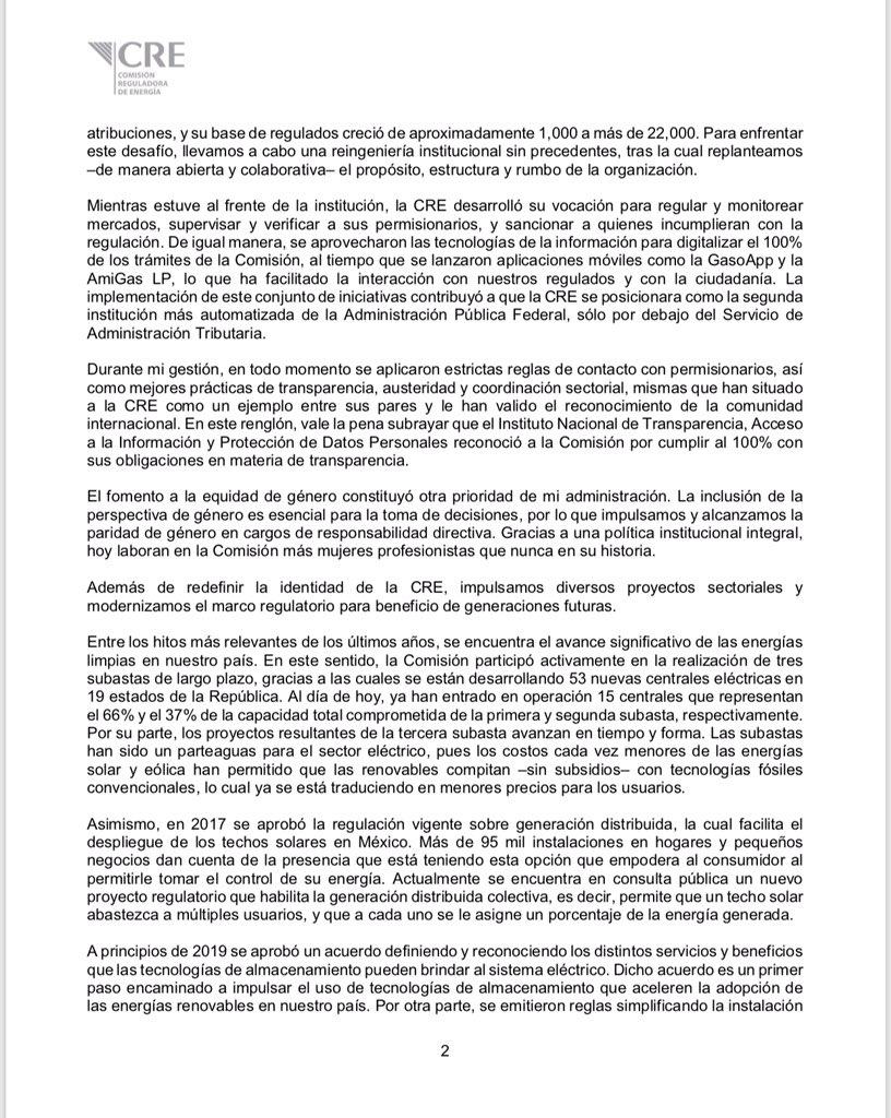 Renuncian mandos de la Fiscalía y la Comisión Reguladora de Energía