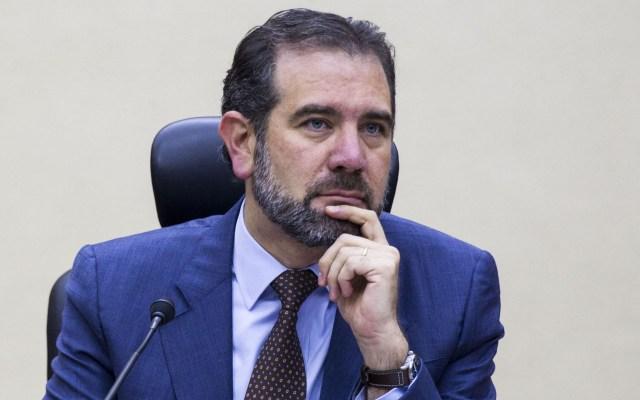 La mesa está puesta para renovar poderes públicos: INE - Lorenzo Córdova en sesión especial del INE por elecciones en seis estados. Foto de Notimex