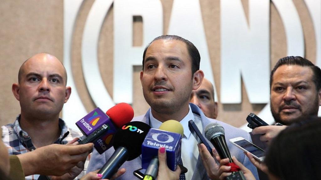 Marko Cortés califica de 'intolerante' que AMLO no reciba informe de CNDH - Cortés Marko del PAN. Foto de Acción Nacional