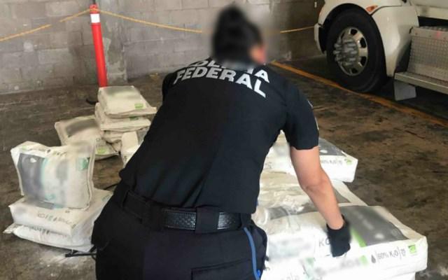 En costales de fertilizante localizan más de media tonelada de crystal - Foto de Secretaría de Seguridad y Protección Ciudadana