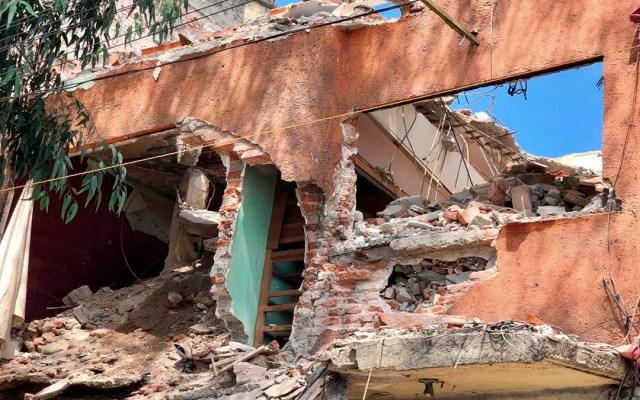 Colapsa parte de edificio en demolición en Calzada de Tlalpan - derrumbe calzada de tlalpan