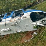 Investigan qué provocó la caída del helicóptero en Edomex - desplome helicóptero edomex