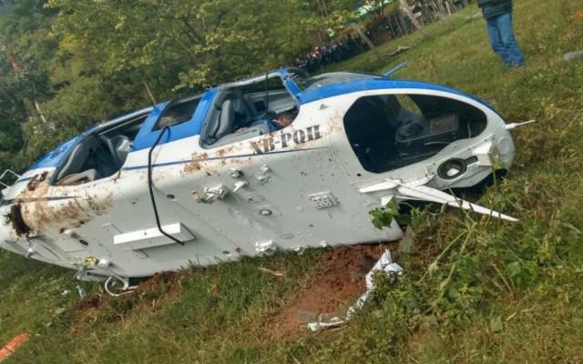 Muere una persona al desplomarse helicóptero en Edomex - desplome helicóptero edomex