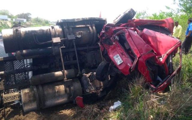 Carambola en Veracruz deja dos muertos y cuatro lesionados - carambola