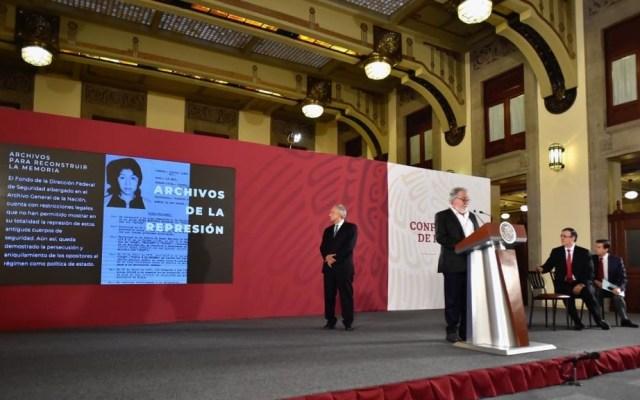 Inaugurarán memorial sobre 'El halconazo' - Encinas en conferencia de prensa de AMLO. Foto de @A_Encinas_R