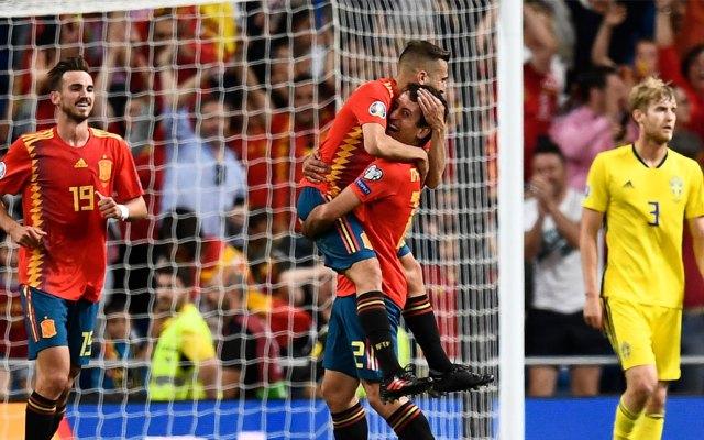 España vence 3-0 a Suecia rumbo a la Eurocopa 2020 - España