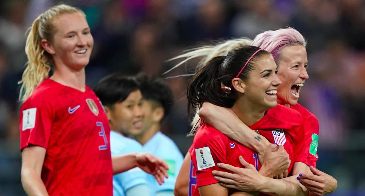 Estados Unidos Tailandia goleada 2 Alex Morgan