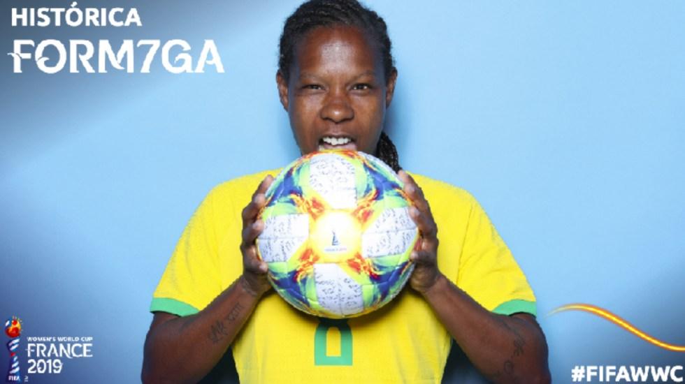 Brasileña rompe récord de más apariciones en una Copa del Mundo - formiga copa del mundo