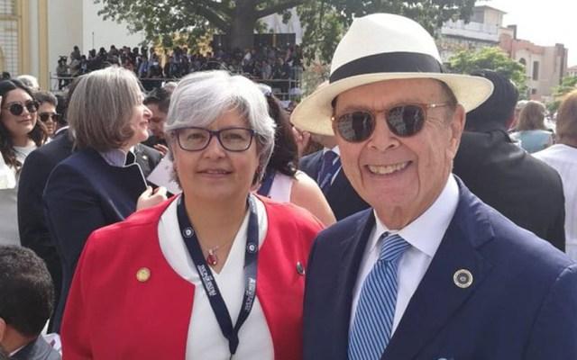 Secretaria de Economía se reunirá con Wilbur Ross este lunes - Graciela Márquez con Wilbur Ross. Foto de @GMarquezColin