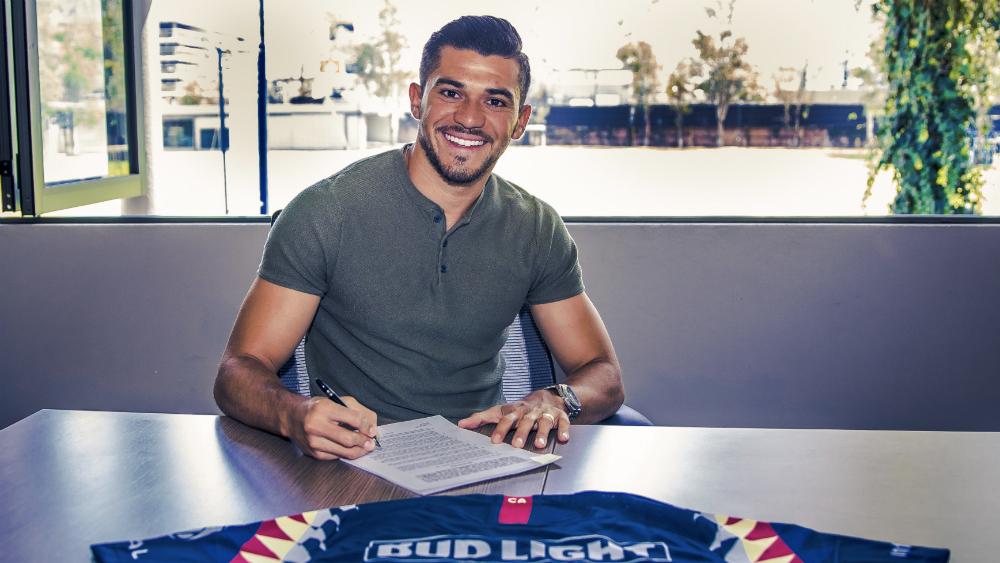 Henry Martín renueva contrato con América hasta 2021 - Foto de @ClubAmerica