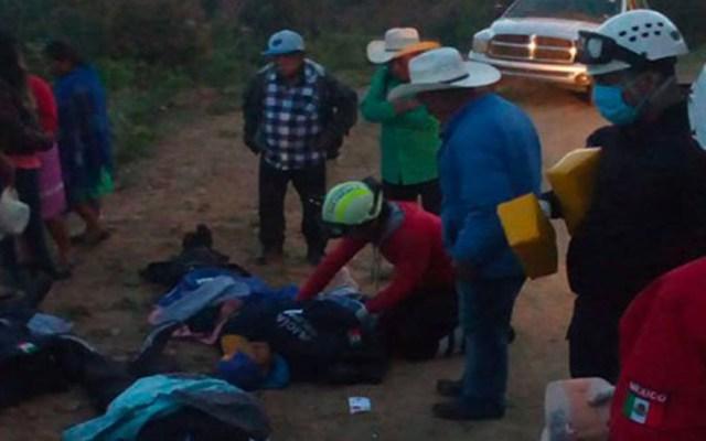 Volcadura por exceso de velocidad deja un muerto y 17 heridos en Oaxaca - Heridos por accidente en Oaxaca. Foto de Quadratín