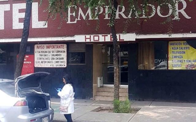 Hallan cadáver de mujer al interior de hotel de la Ciudad de México - Hotel donde fue hallado un cadáver femenino. Foto de @MrElDiablo8