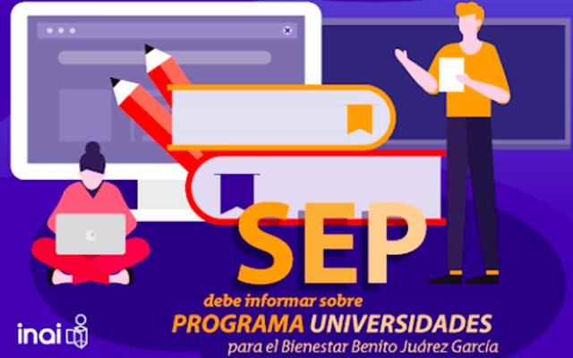 SEP deberá informar costo de construcción de Universidades para el Bienestar - inai universidades sep