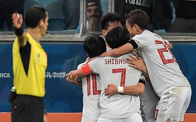 Japón empata con Uruguay en polémico partido - Japón Copa América Uruguay gol