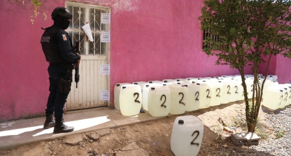 Descubren laboratorio de metanfetaminas en Sinaloa - Foto de @sspsinaloa1