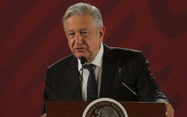 Consulta de juicio a ex presidentes se haría solo por exigencia: AMLO - López Obrador en conferencia. Foto de Notimex