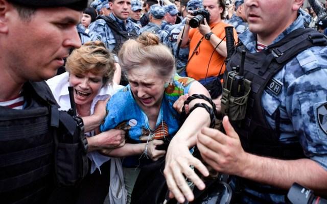 Más de 400 detenidos durante manifestación en Moscú - detenidos manifestación Moscú
