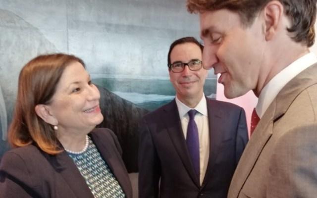 Embajadora Martha Bárcena se encuentra con Trudeau y Mnuchin - Foto de @Martha_Barcena