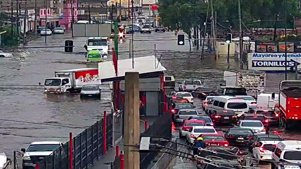 Se inunda tramo de la México-Pachuca en Ecatepec - inundaciones