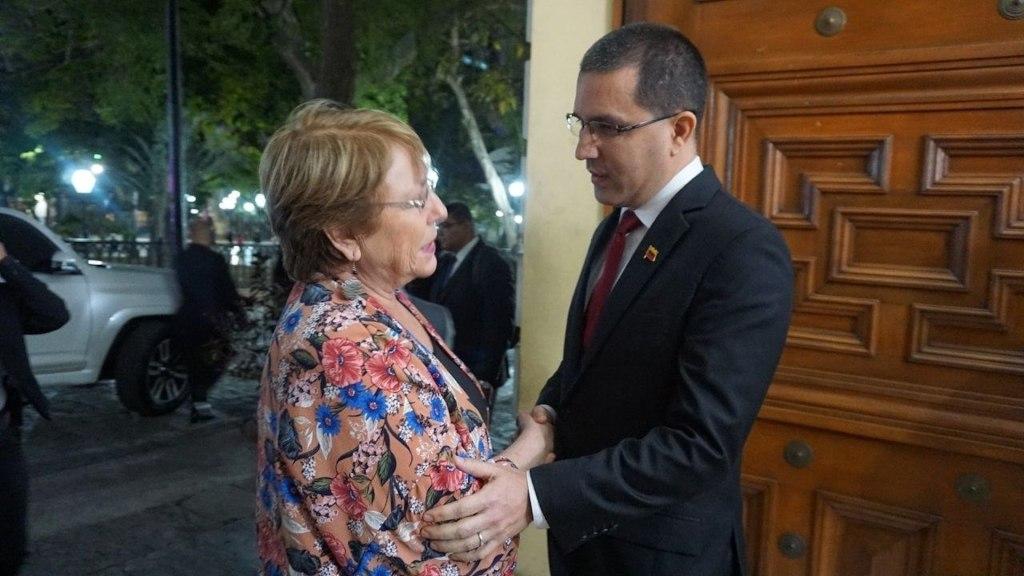 Bachelet pasa sus primeras horas en Venezuela reunida con el oficialismo. Noticias en tiempo real