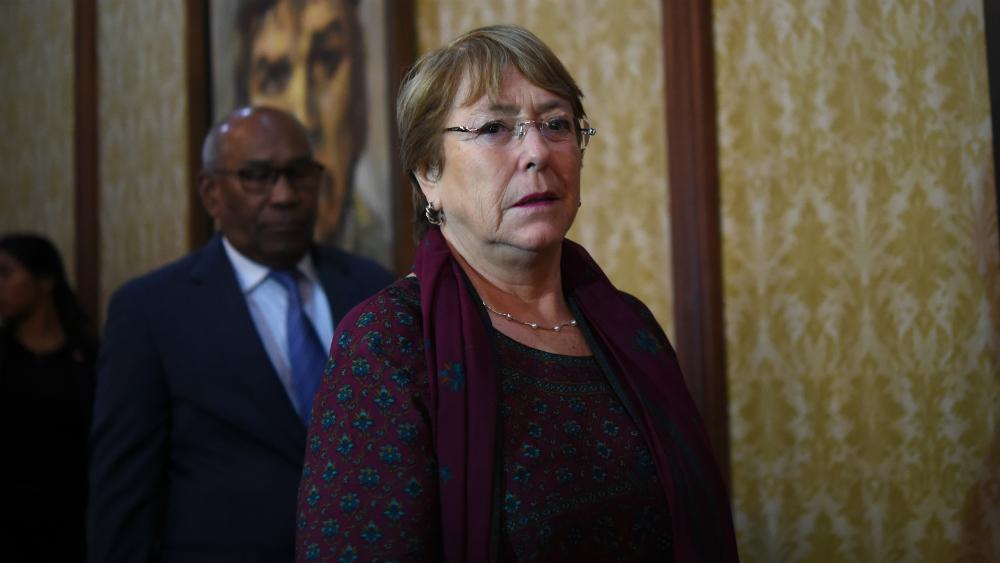 Bachelet se reúne con Maduro y Guaidó al cierre de su visita a Venezuela - Foto de AFP